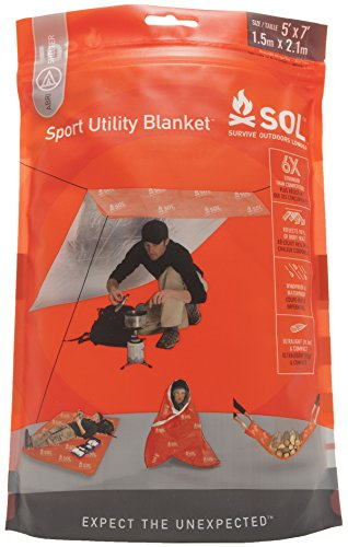 S.O.L Survive Outdoors Longer 95 Percent Heat Reflective Sport Utility Blanket
