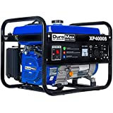 DuroMax XP4000S 7.0 HP Air Cooled OHV Gasoline Powered Portable RV Generator, 4000-watt, Blue
