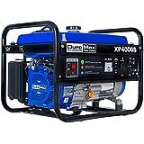 DuroMax XP4000S 7.0 HP Air Cooled OHV Gasoline Powered Portable RV Generator, 4000-watt, Blue