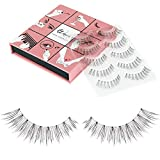 Fake Eyelashes Wenida 5 Pairs 100% Handmade Long Soft Reusable Natural look False Eyelashes