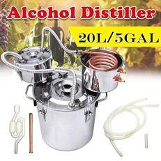 5-Gallon-Moonshine-Still-Water-Alcohol-Distiller-20-Liters-DIY-Whiskey-Still-Stainless-Steel-Spirits-Boiler-with-Copper-Tube-3-Pots-Home-Brew-Wine-Making-Kit-with-Thumper-Keg