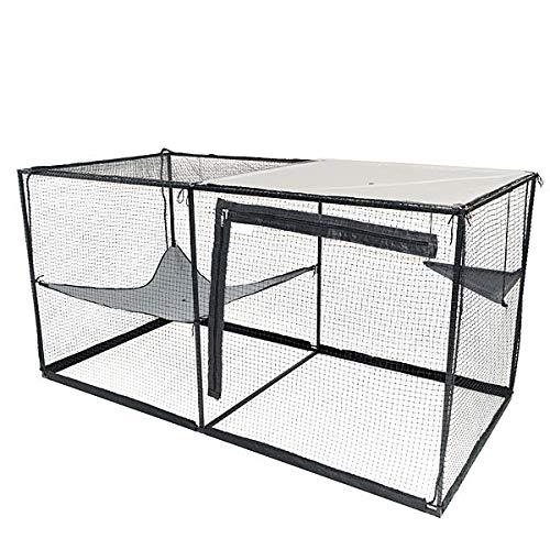 La Luna Pet Care Cat Enclosure | Cat Enclosure | Outdoor Cat Enclosure | Cat Play Pen | Indoor Outdoor Cat Tent | 47.2' x 47.2' x 94.4'