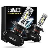 BEAMTECH H4 LED Headlight Bulb, 50W 6500K 8000Lumens Extremely Brigh (9003 Hi/Lo) CSP Chips Conversion Kit