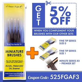 Small-Paint-Brush-Miniature-Brushes-Fine-Tip-Series-4pc-000-Paintbrushes-Set-for-Art-Watercolor-Acrylics-Oil-Model-Craft-Warhammer-Airplane-Kits-Nail-Paint-by-Numbers-Micro-Detail-Hobby-Painting