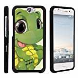 Compatible with HTC One A9 Case | HTC Aero Case [Slim Duo] Hard Shell Snap On Case Compact Fitted Cover Matte Finish on Black Sea Ocean by TurtleArmor - Baby Turtle