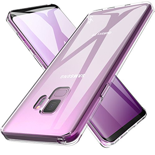 LK Case for Galaxy S9, Ultra [Slim Thin] Crystal Clear TPU Rubber Soft Skin Silicone Protective Case Cover for Samsung Galaxy S9 (Clear)