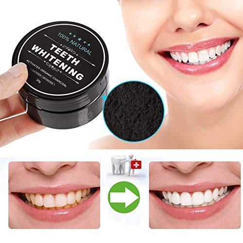 Teeth Whitening Charcoal Powder, Natural Activated Charcoal Teeth Whitener Powder with Bamboo Brush Oral Care Set (1.05 oz) 6