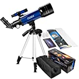 Kids Telescope for Beginners Adult, 70mm Astronomical Refractor Telescope with Adjustable Tripod & & Finder Scope- Portable Travel Telescope for Children Teens