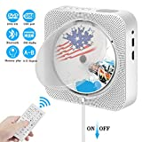 Portable Bluetooth CD Player, Wall Mountable CD DVD Player HDMI Built-in HiFi Speakers with Remote for TV, Music Player Support FM Radio USB SD Card AV Jack 3.5mm Headphone Jack