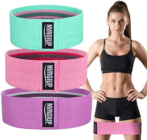 NVRGIUP Exercise Resistance Bands for Legs and Butt, Upgrade Thicken Anti-Slip & Roll Home Gym Workout Booty Bands, Wide Fabric Loop Thigh Glute Bands Set for Women with Ebook & Video 3