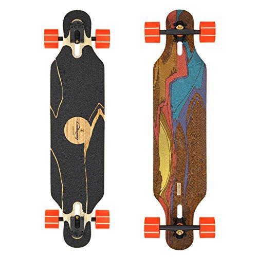 Loaded Boards Icarus Bamboo Longboard Skateboard Complete w/ 80mm 80a Kegels (Flex 1)