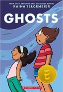 Cover art for GHOSTS by Raina Telgemeier