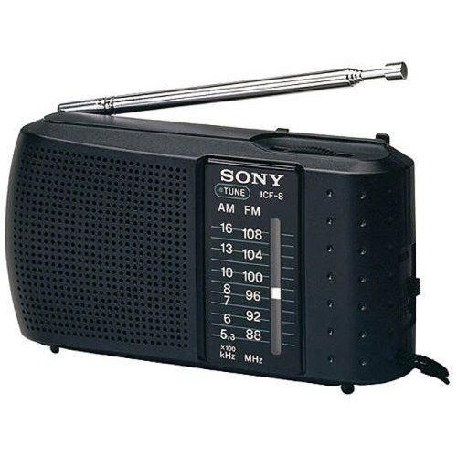 Sony ICF-8 RADIO FM/AM 2BAND Radio High Sensitivity LED Tuning Indicator Earphone Jack Volume Control