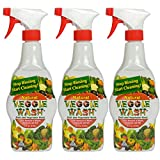 Veggie Wash All Natural Fruit and Vegetable Wash Sprayer, 16-Ounce Spray, 3-Pack
