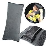 Kids Seatbelt Pillow, ILIVABLE Universal Car Safety Belt Shoulder Pad Neck Protector Plush Vehicle Non-Slip Seat Belt Cover for Child, Adult (Gray, 1 Pack)