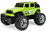 New Bright Chargers F/F 4-Door Jeep RC Vehicle (1:18 Scale), Green