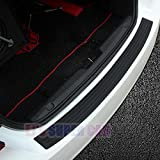EJ Super CAR Rear Bumper Protector Guard Universal Black Rubber Scratch,Resistant Trunk Door Entry Guards Accessory Trim Cover for SUV/Cars,Easy D.I.Y. Installation(35.8Inch)