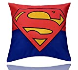 REINDEAR 18'' X 18'' Comics Superhero Cotton Linen Decorative Pillow Cover Cushion Case US Seller (Superman)