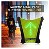 FANCYWING LED Turn Signal Bike Pack Accessory/LED Backpack Widget with Direction Indicator - USB Rechargeable Bag Safety Light for Cycling at Night, Waterproof, Safe Bicycle
