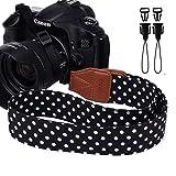 Eorefo Camera Strap Vintage Universal Shoulder Neck Belt Strap for All DSLR Camera Nikon Canon Sony Olympus Samsung Pentax Fujifilm,Black.