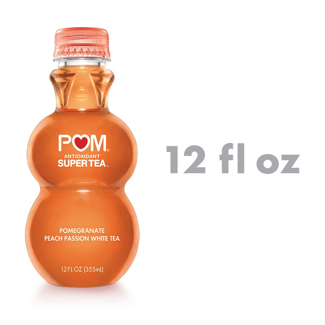 POM Super Tea, Pomegranate Peach Passion White Tea, 12 oz