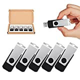 TOPSELL 5 Pack 32GB USB 3.0 Flash Drive Memory Stick Thumb Drives Zip Drive Jumpdrive, Black
