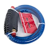 3/8inch 10FT Air Hose Non-Kinking HYBRID LEAD IN HOSE, 300PSI With 1/4' MNPT Brass Ends Blue