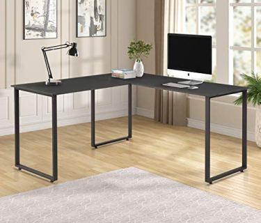Merax L-Shaped Office Desk Workstation Computer Desk Corner Desk Home Office Wood Laptop Table Study Desks