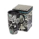 Dark and Stormy Ceramic Travel Coffee Cup with Gift Box