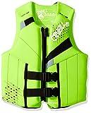 O'Neill Teen Reactor USCG Life Vest Dayglo/black/flint,75-125 lbs