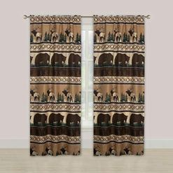 Rustic Lodge Cabin Curtains