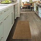 Ottomanson Softy Collection Solid Non-Slip Kitchen/Bath Rug, 2'2'X6'0', Beige