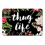 ZBLX Thug Life Flowers Doormat Entrance Mat Floor Mat Rug Indoor/Bathroom Mats Rubber Non Slip (23.6'x15.7',L x W)