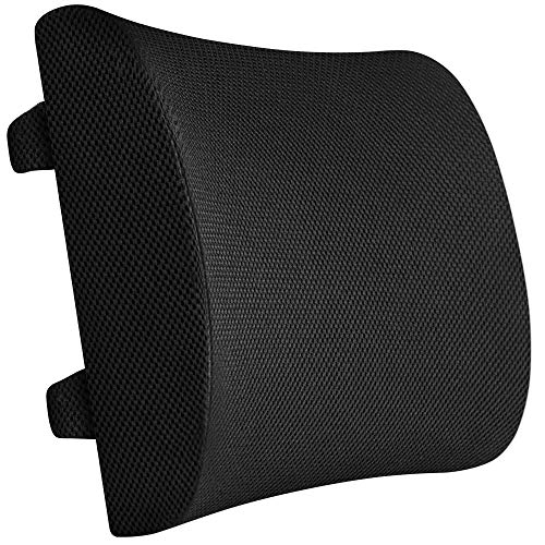 Everlasting Comfort 100% Pure Memory Foam Back Cushion - Lumbar Support Pillow for Office, Car and Chair