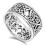 Women's Celtic Knot Eternity Fashion Ring .925 Sterling Silver Band Size 7
