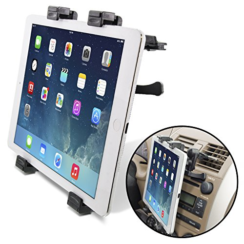 Okra Universal Tablet Air Vent Car Mount Holder with 360 Rotating swivel compatible w/ Apple iPad, Samsung Galaxy Tab, and all Tablet Devices 5' to 11' (Retail Packaging)