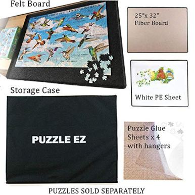 Jigsaw-Puzzle-Board-Portable-1000-Piece-for-Adults-Large-Lightweight-Puzzle-Table-Top-with-Cover-Felt-Puzzle-Tray-Board-with-Lid-Plateau-Accessories-Flipper-Hanging-Kit-Gift-for-Puzzle-Lover