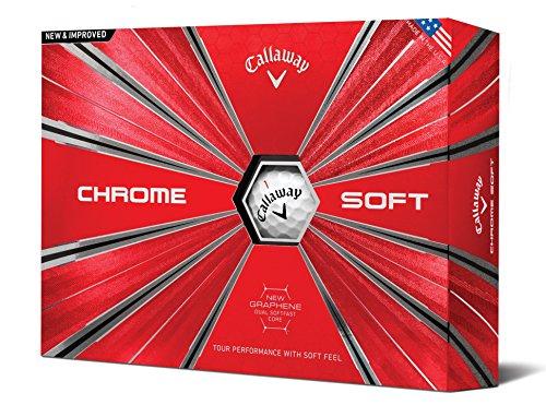 Callaway Golf Chrome Soft Golf Balls, (One Dozen), White