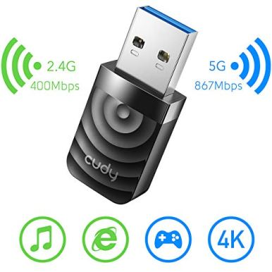 Cudy-WU1300S-AC-1300Mbps-WiFi-USB-30-Adapter-for-PC-USB-WiFi-Dongle-5Ghz-24Ghz-WiFi-USB-30-Wireless-Adapter-for-DesktopLaptop-Compatible-with-Windows-788110-mac-OS-Linux