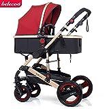 Infant Stroller Luxury Newborn 2 in 1 Baby Stroller Newborn Carriage Infant Travel Car Foldable Pram Pushchair