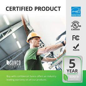 Sunco-Lighting-10-Pack-Wraparound-LED-Shop-Light-4-FT-Linkable-40W300W-3500-LM-5000K-Daylight-Integrated-LED-Direct-Wire-Flush-Mount-Fixture-Utility-Light-Garage-ETL-Energy-Star