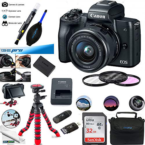 Canon-EOS-M50-Mirrorless-Camera-Kit-wEF-M15-45mm-and-4K-Video-Black-Essential-Accessories-Bundle