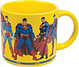 Superman Through the Years Coffee Mug - Eight of the Most Iconic Depictions of Superman from the 1940s Through the Present - Comes in a Fun Gift Box