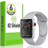 [6-Pack] IQ Shield LiQuidSkin Clear [Ultimate] Screen Protector for Apple Watch 38mm (Apple Watch Nike+, Series 3/2/1 Compatible) Bubble Free Film