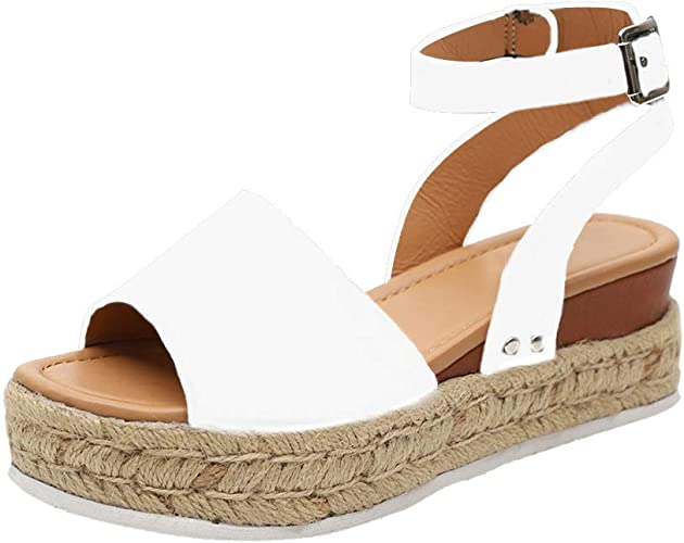 Luzoeo Sandalias Mujer Cuña Plataforma Zapatos