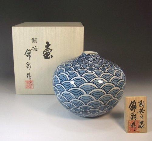Arita - Imari pottery vase | luxury gifts | Gifts | souvenir | gift | Qinghai Namibotan - potter Fujii NishikiAya
