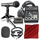 Behringer PODCASTUDIO USB Complete Podcasting Kit w/USB Audio Interface and Basic Accessory Bun