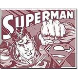 Superman Tin Metal Sign : Duotone , 16x13