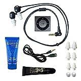 Underwater Audio 100% Waterproofing Compatible with iPod Shuffle, Swimbuds Flip, AquaGuard, iFloatie, and Fitgoo (Space Gray)