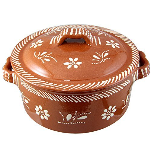 Vintage Portuguese Traditional Clay Terracotta Casserole With Lid Made In Portugal Cazuela (N.2 8